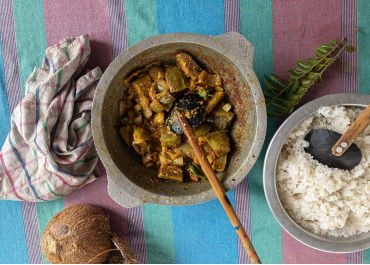 One-pot curry d'aubergines
