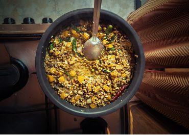 Curry de haricots rouges & de courge (Erissery)