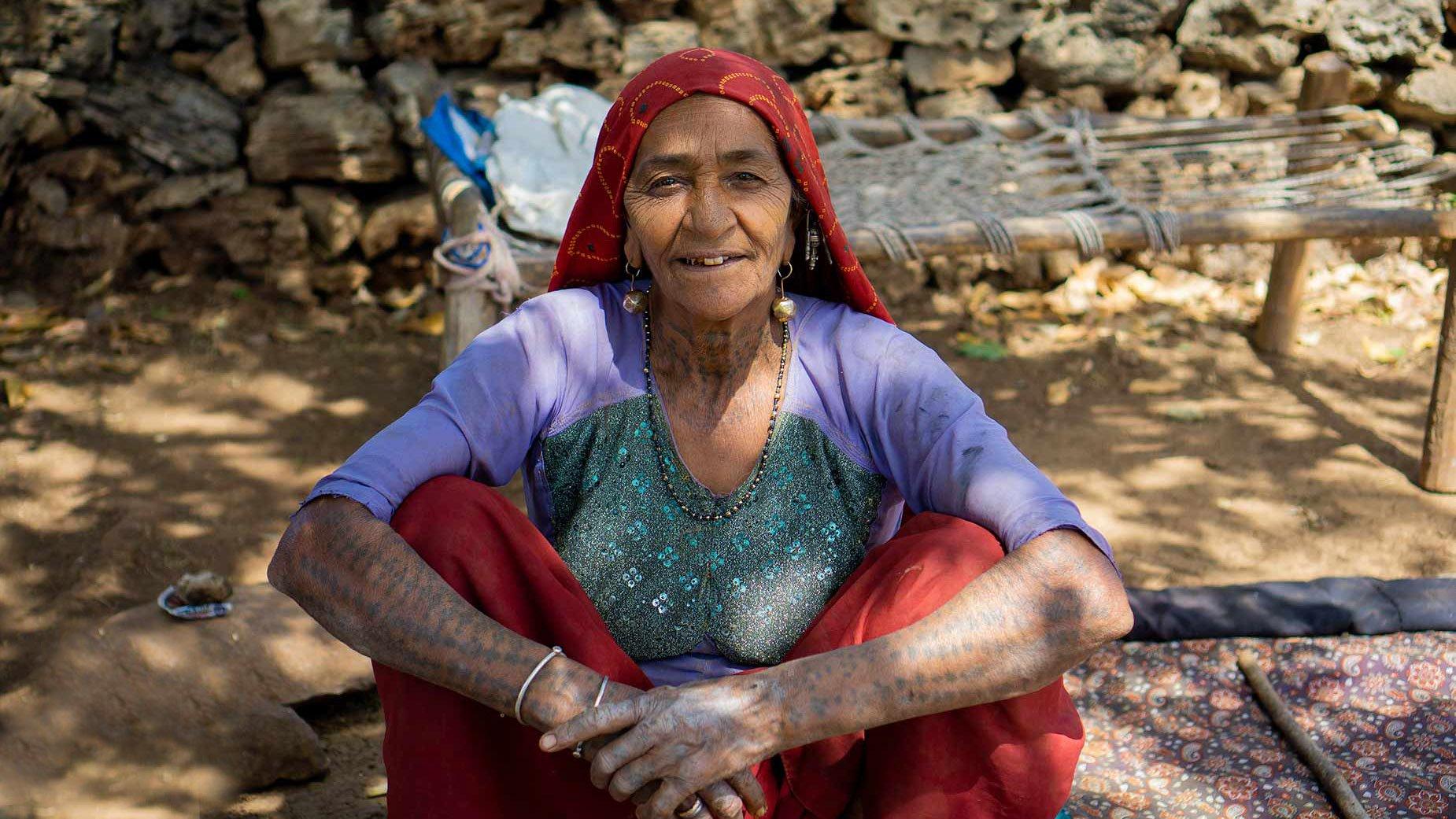 Gir sheperd woman portrait